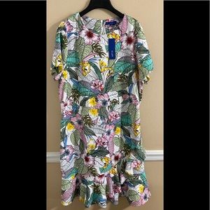 Colorful Floral Dress XXL NWT